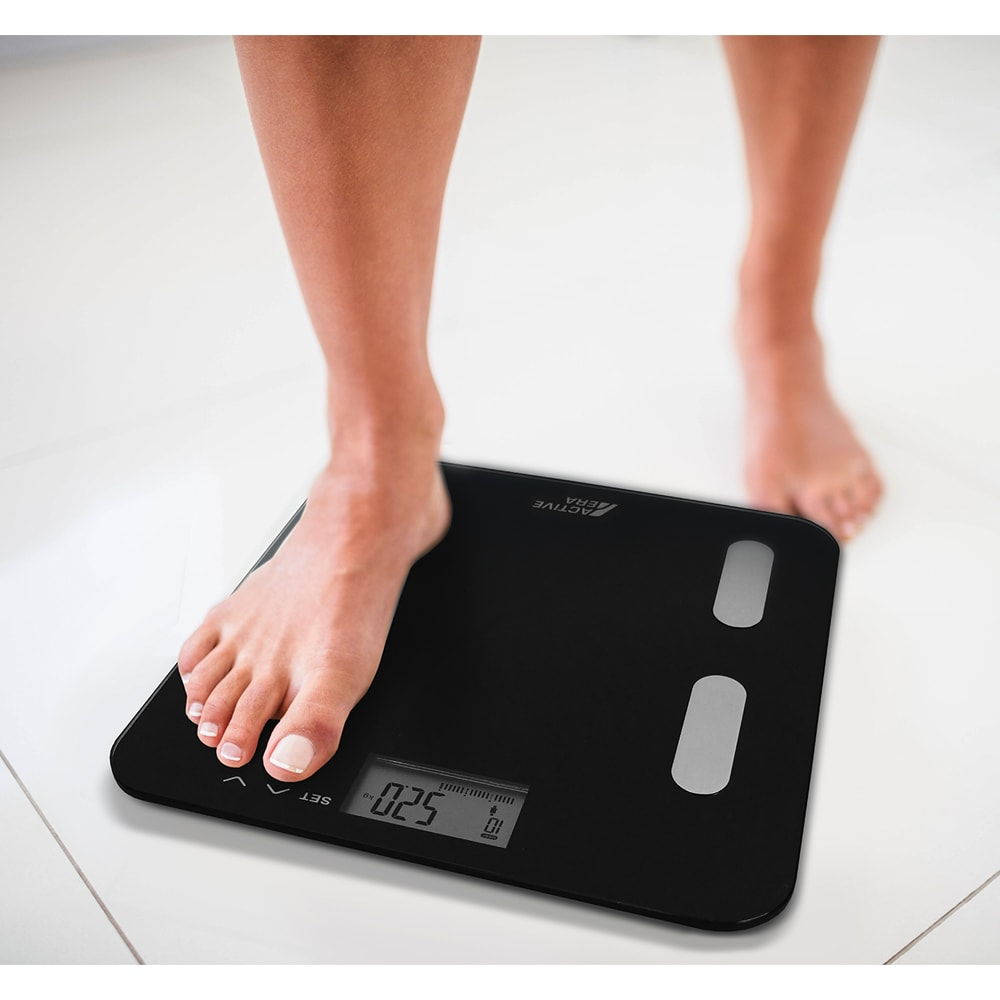 active era body fat bathroom scales black