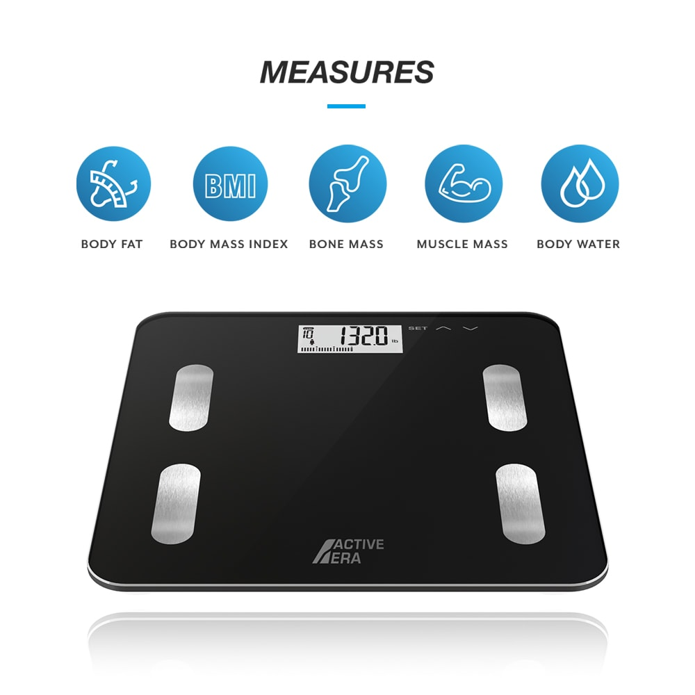 Body Fat Scales Black Bmi Bone M Muscle