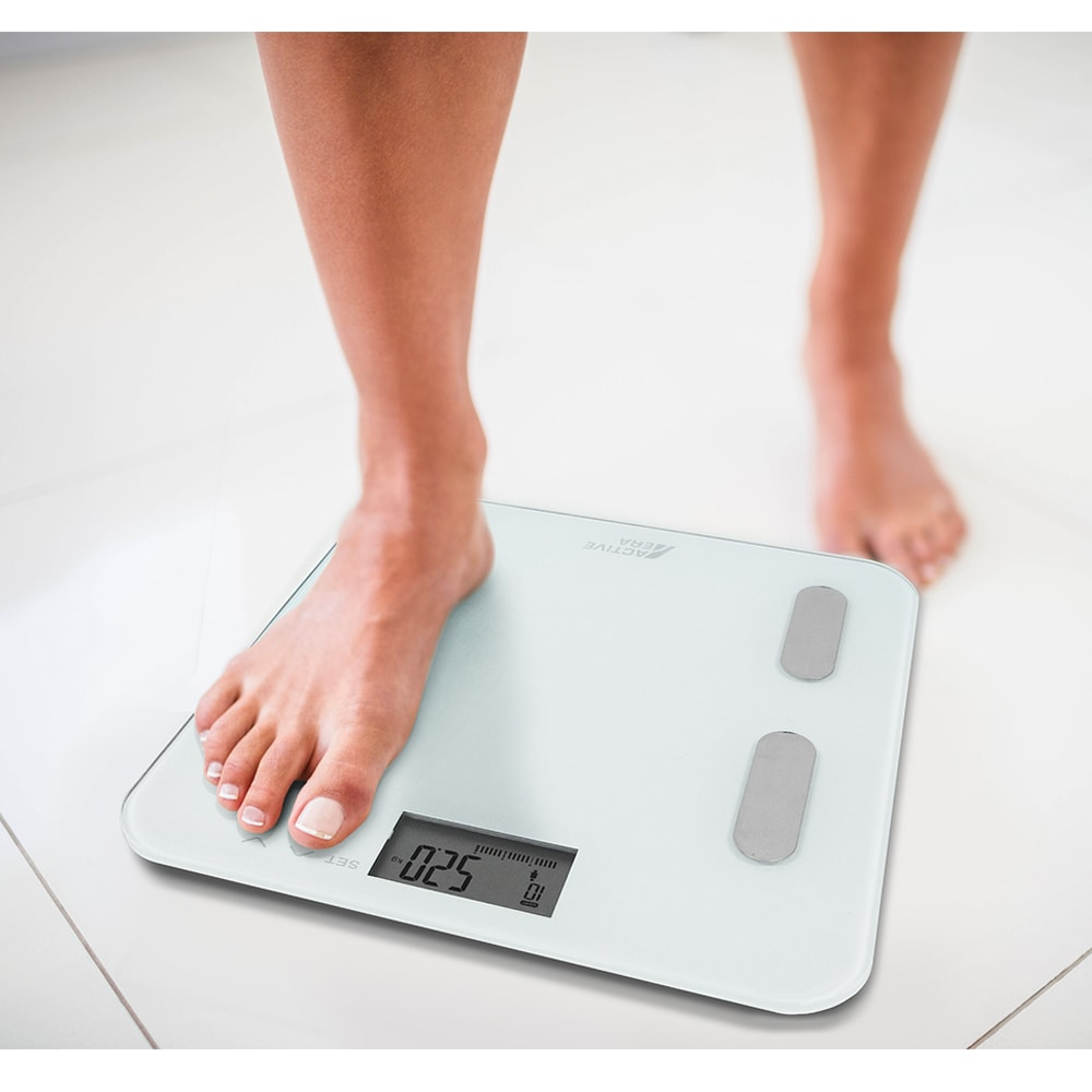active era body fat bathroom scales white