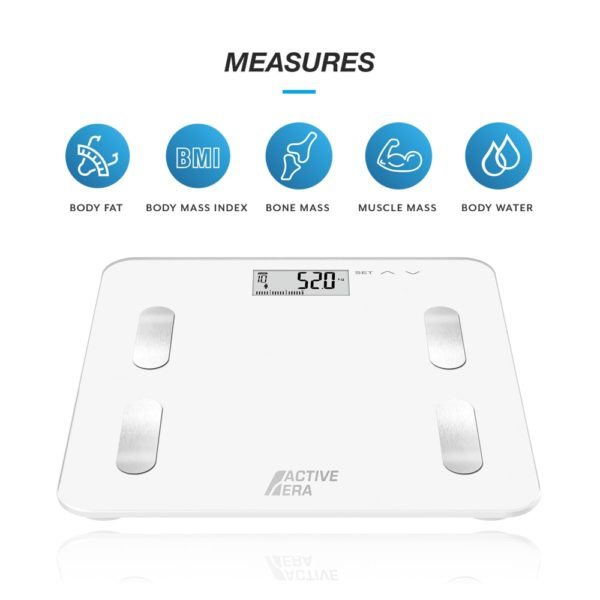 body fat scales white bmi bone mass muscle mass