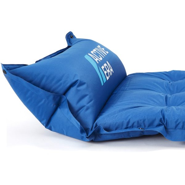 camping pad with built in inflatable pillow