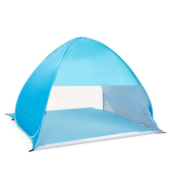 pop up beach tent open front